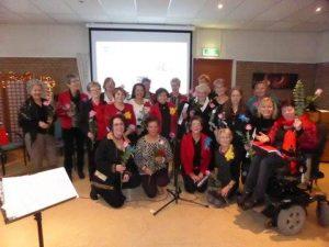 Kerstbijeenkomst PCOB - groepsfoto